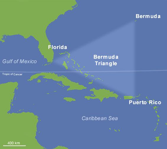 Tam giác quỷ Bermuda lừng danh