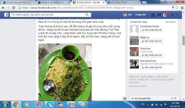 Quá bức xúc, chị Mai đã nêu vụ việc trên trang facebook cá nhân