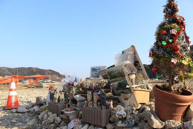 Lăng mộ tưởng niệm các nhân viên ngân hàng 77 ở Onagawa (Ảnh: Hiromi Tanoue)