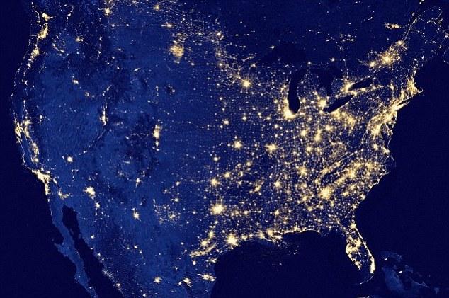 Các quốc gia có cường độ chiếu sáng ban đêm lớn nhất cũng có tỷ lệ béo phì cao nhất