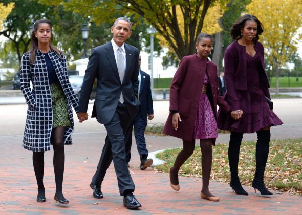Gia đình Tổng thống Obama (Ảnh: Getty Images)