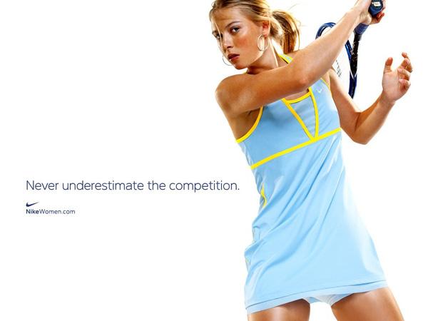 Một tấm ảnh quảng cáo của Sharapova cho Nike.
