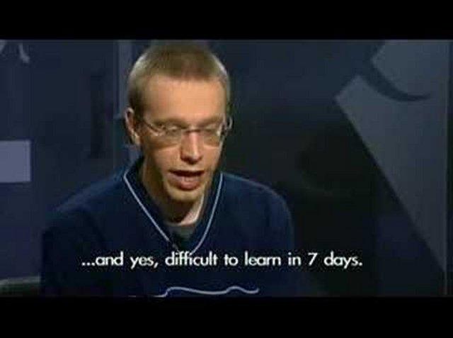 Daniel trả lời phỏng vấn trên đài truyền hình Iceland sau khi học xong ngôn ngữ khó nhất hành tinh trong 7 ngày.
