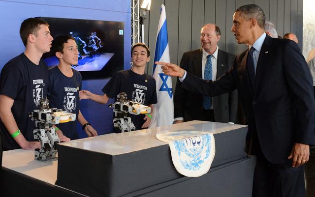 Học sinh Israel có cuộc gặp với tổng thống Obama và trao đổi về vấn đề công nghệ