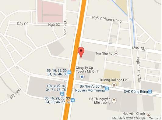 Đường Phạm Hùng nơi dự án tọa lạc