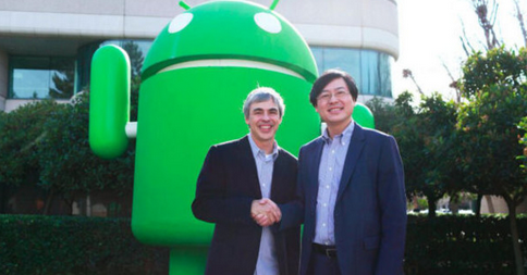 CEO Google bắt tay CEO Levono