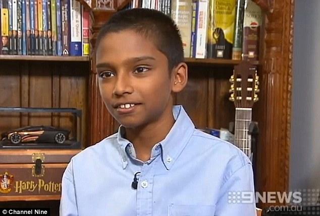Nhờ chỉ số IQ lên tới 168, Sharvin đã được coi là cậu bé thông minh nhất nước Úc