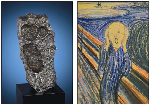 Vì trông na ná bức tranh The Scream của họa sỹ Evard Munch, viên đá sẽ có giá vào khoảng 8 tỷ đồng khi bán đấu giá.
