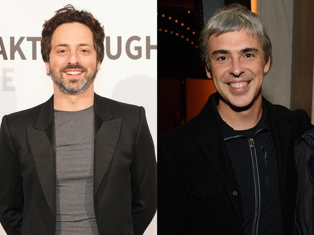 Sergey Brin and Larry Page.