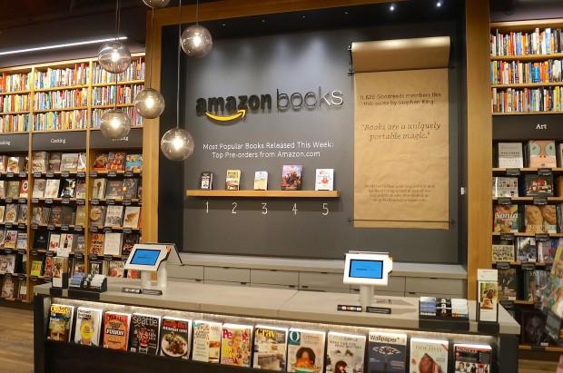 Thiết kế bookstore của Amazon. Ảnh: Geekwire.