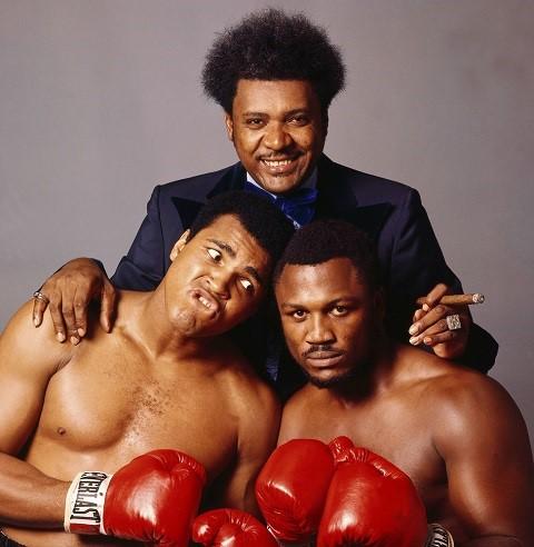 Những nhân vật của trận so găng thế kỷ (Từ trái qua phải): Ali, Don King và Foreman