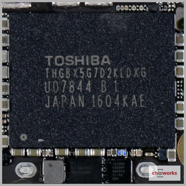 Chip nhớ 16GB của Toshiba.