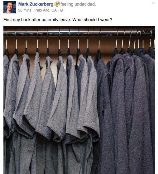 Tủ quần áo của anh Zuck.
