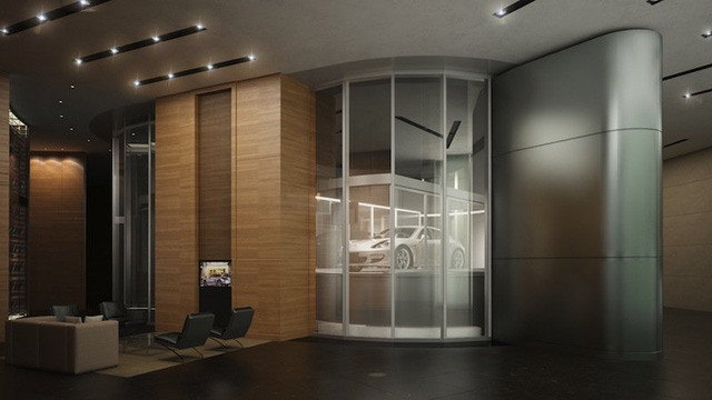 3 thang máy đặc biệt sẽ giúp các tỷ phú có thể lái xe vào thang máy đi thẳng lên căn hộ của mình thay vì phải đi bộ qua sảnh