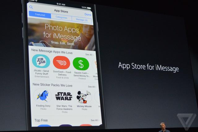 Chợ ứng dụng không phải của iOS mà là của riêng iMessage.