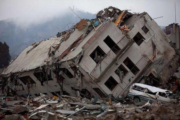 Vùng Onagawa bị sóng thần tàn phá hoàn toàn (Ảnh: Getty Images)