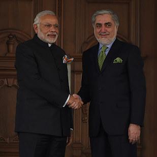 Ông Abdullah Abdullah trong chuyến gặp mặt với Thủ tướng Ấn Độ Narendra Modi.