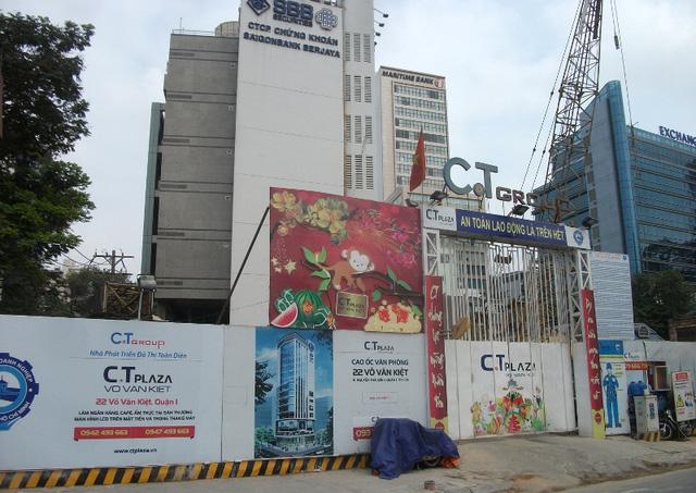 Một dự án cao ốc văn phòng của C.T Group cũng đang băt đầu chuyển mình