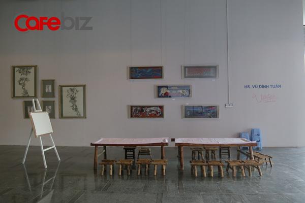 Một góc tại Heritage Space (Hà Nội) - không gian của tinh hoa văn hóa với: cà phê - sách, thư viện, triển lãm tranh, khu vực dành cho hội thảo, không gian văn hóa.