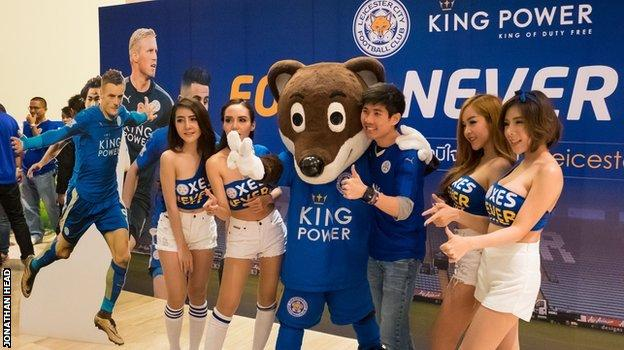 (Vận động viên Jamie Vardy và Kasper Schmeichel của Leicester đang dần trở nên nổi tiếng tại Thái Lan)