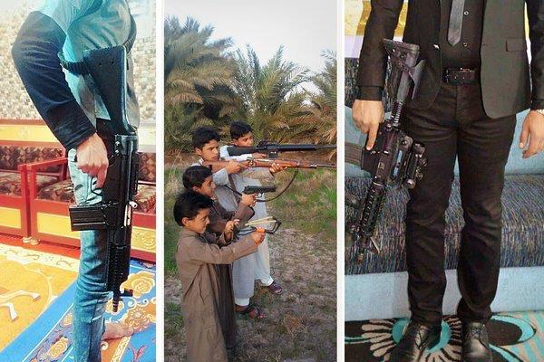 Hình ảnh từ một nhóm giao dịch vũ khí ở Iraq