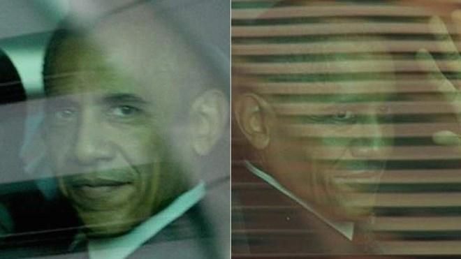 Có hai ông Obama ngồi trong xe The Beast dự Hội nghị G20 năm 2014 (Ảnh: Courrier Mail)