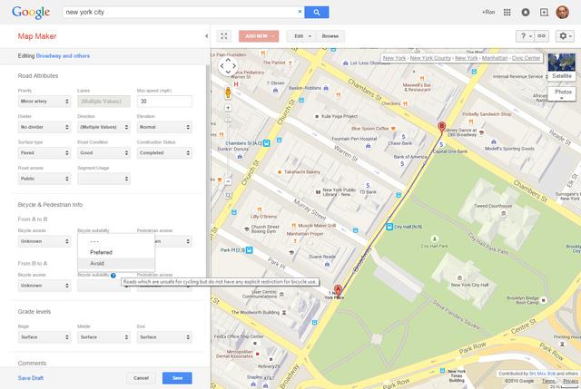 Người dùng có thể sửa chữa, thêm thắt thông tin từ hệ thống Google Map Maker, để có được một bản đồ khu vực chính xác hơn.