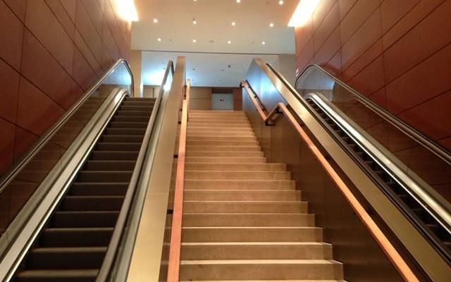 Bên cạnh hệ thống thang máy, đi lại giữa các tầng còn có hệ thống thang cuốn hiện đại.</p></div><div></div></div><p></p><p>