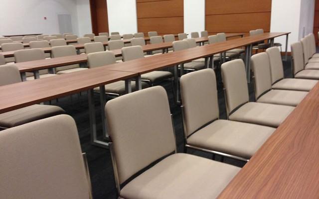 Phòng họp báo được thiết kế ở tầng hầm 1, với khoảng 100 chỗ ngồi.</p></div><div></div></div><p></p><p>