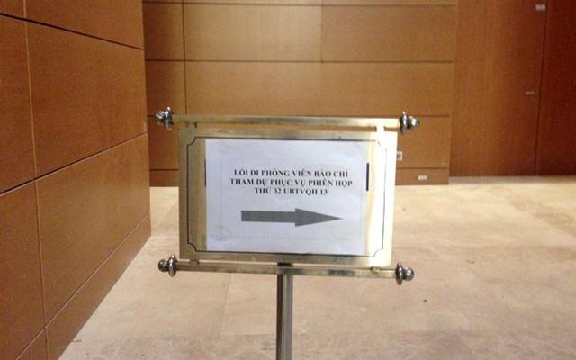 Báo chí sẽ được bố trí tham dự, đưa tin các phiên họp tại một phòng riêng ở tầng hầm.</p></div><div></div></div><p></p><p>