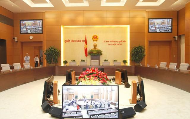 Phòng họp của Uỷ ban Thường vụ Quốc hội đã được sử dụng cho phiên họp thứ 32, khai mạc sáng 6/10.</p></div><div></div></div><p></p><p>