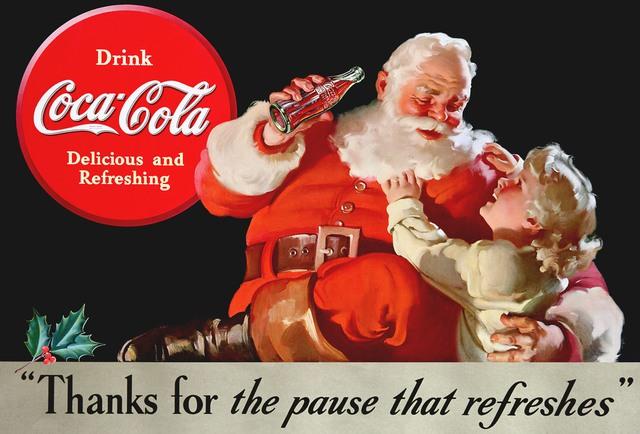 Hình ảnh Ông già Noel trong quảng cáo của Coca Cola