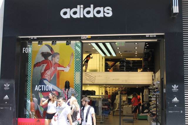 This Adidas store looked a little more full than when Weisenthal visited, but not by much.