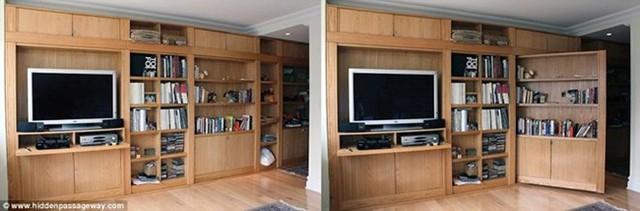 Kệ TV đứng yên nhưng tủ sách có thể