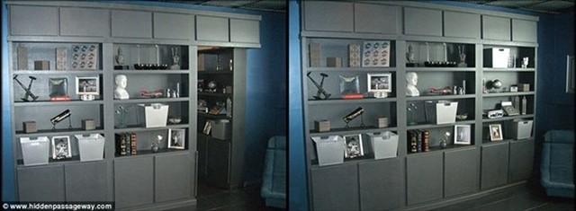 Một căn phòng bí mật phía sau tủ trưng bày là nơi cho phép chủ sở hữu lưu giữ những món đồ mà họ không muốn đưa ra trưng bày.