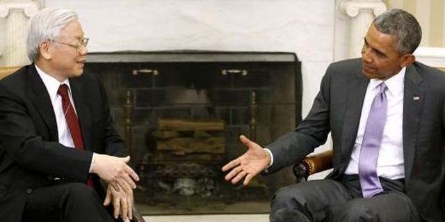 Tổng bí thư Nguyễn Phú Trọng khẳng định coi trọng phát triển quan hệ với Mỹ là chủ trương nhất quán, lâu dài của Việt Nam - Ảnh: Reuters.