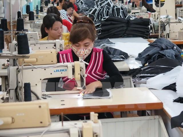 Tổng kim ngạch xuất khẩu ngành dệt may năm 2014 đạt xấp xỉ 24,6 tỷ USD (Ảnh: TTXVN)