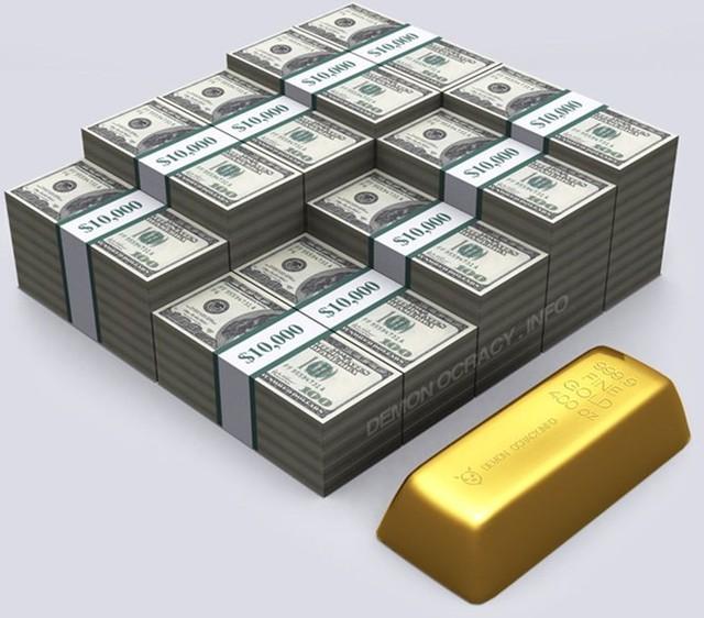 Một thanh vàng 400 ounce, với tỷ giá quy đổi 2.000 USD/ounce sẽ có giá khoảng 800.000 USD nếu đổi ra tiền mặt. Thanh vàng khá nặng, tương đường 3 bình sữa đầy.