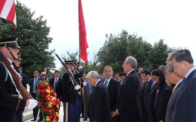 Ngày 6/7, Tổng bí thư Nguyễn Phú Trọng và đoàn đã tới thăm Nhà tưởng niệm Tổng thống Thomas Jefferson - Ảnh: VOV.