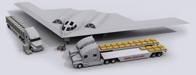 Chương trình Northrop Grumman B2 Spirit Bomber (máy bay ném bom tàng hình) của Mỹ tiêu tốn khoảng 44,75 tỷ USD để tạo ra tổng cộng 21 chiếc, như vậy, mỗi chiếc sẽ có giá tương đương hơn 2,13 tỷ USD. Và trong hình là số vàng tương đương để làm ra một chiếc B2 Spirit.