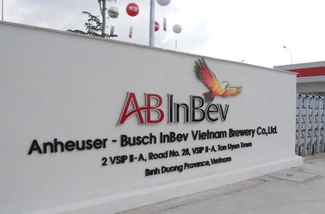 Nhà máy bia AB InBev ở Bình Dương.