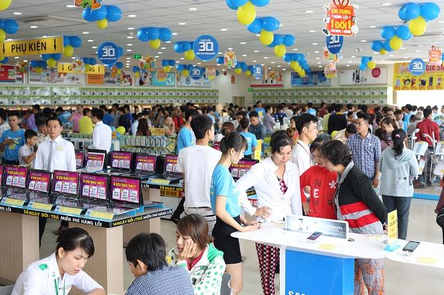 Điện máy Xanh tập trung trưng bày các loại hàng hóa đáp ứng 80-90% nhu cầu của người tiêu dùng