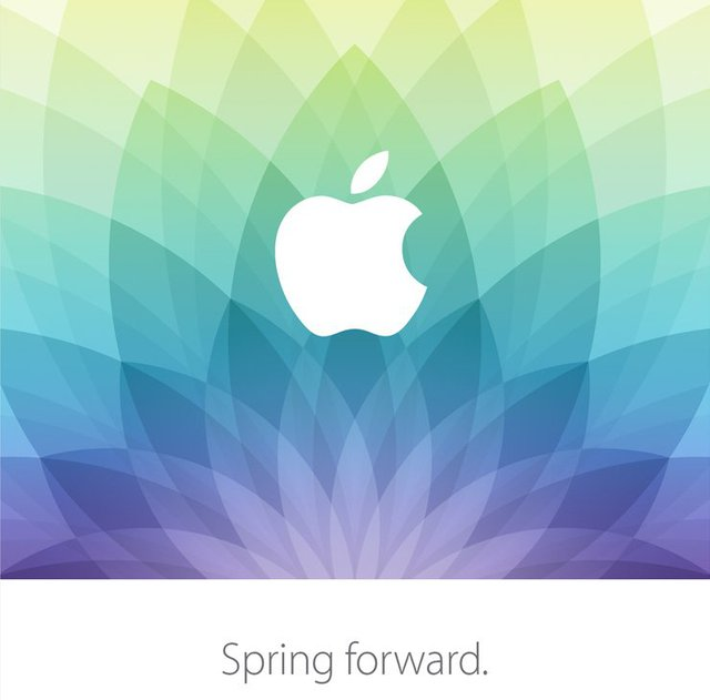 And heres the teaser for the Apple Watch launch event, which had the same floral motif and pastel colour scheme.