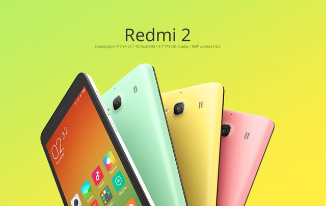 The Redmi 2 comes in similar colours, too.
