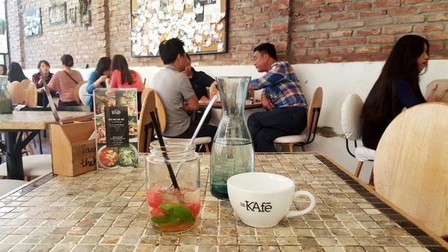 1 góc không gian The Kafe tại Hà Nội