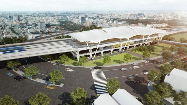 Thiết kế nhà ga nhìn từ trên cao