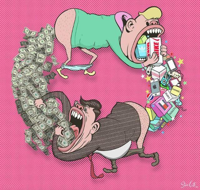 Người dùng cần sản phẩm, các công ty sản phẩm cần tiền từ người dùng.