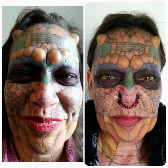 Và đây là hình ảnh rồng hoá của Eva Medusa - Richard Hernandez ngày nào.