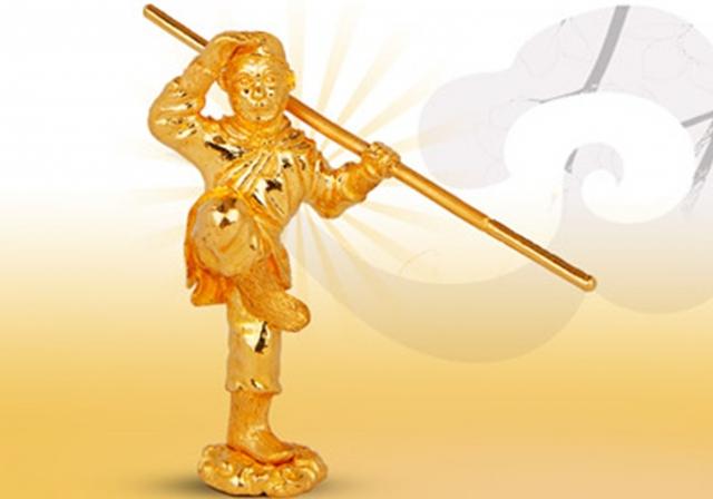 Tượng khỉ bằng vàng mô phỏng theo nhân vật trong Tây Du Ký