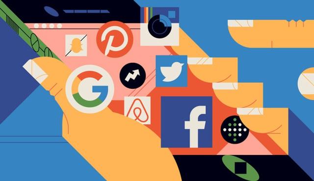 Facebook vẫn đang dẫn đầu về thị phần so với các mạng xã hội khác như Twitter, Pinterest, Google+,...